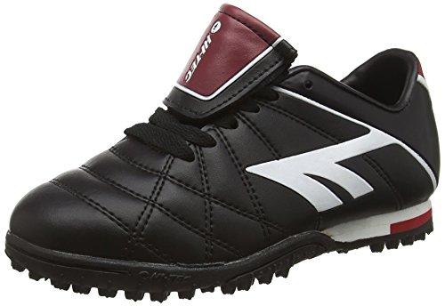 Hi-Tec League Pro Astro Junior, Botas de Fútbol Unisex Niños Negro (Black/white/red 021)
