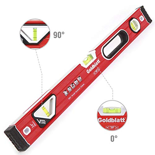 (Goldblatt 24in. Double View Vertical Site I-box Spirit Level)