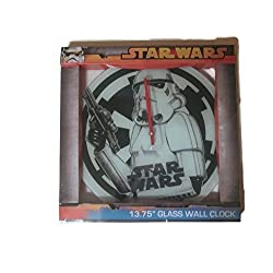 Star Wars Storm Trooper Glass Wall Clock 13.75
