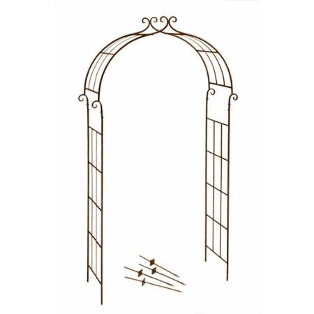 Deer Park Steel Candy Cane Arch, Natural