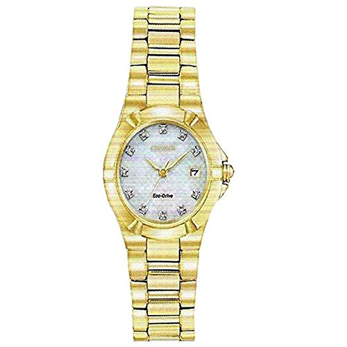 (Citizen EW1532-61D Womens Goldtone MOP Watch Set)