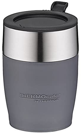 térmica Café by Thermos Adultos Desk Cup - Vaso, Acero Inoxidable Gris 0, 25 L isoliertasse, 0,25 L: Amazon.es: Deportes y aire libre