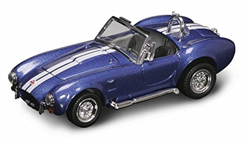 Convertible Shelby - 1964 Shelby Cobra 427S/C Convertible, Blue w/ Stripes - Yatming 94227 - 1/43 Scale Diecast Model Toy Car