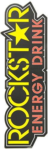 20 Yellow 1' (Rockstar Star Logo) Die-Cut Sticker (Factory Effex Logo Stickers)