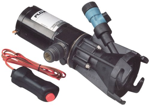 Flojet 18555-000A, Portable RV Waste Pump, 12 Volt DC, Macerator, Includes Carrying - Free Flow Control Device