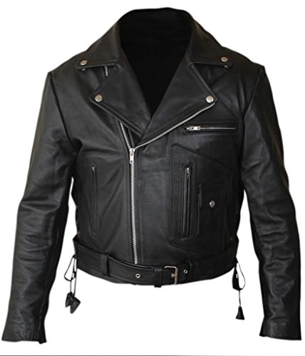 Arnold Schwarzenegger Costume (F&H Men's Terminator 2 Judgment Day Arnold Genuine Leather Jacket M)