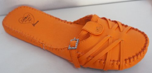 Kenkä Solki 5 Koko Kirkkaan Diamante Luistaa Edessä vaatteet Oranssi Cherag FItfgx