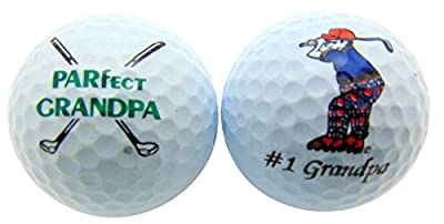 Westman Works Happy Fathers Day Grandpa Set of 2 Golf Ball Gift Pack for Grandfather