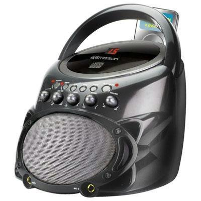 (JS Karaoke Portable CDG System GP298R Music Set, Black)