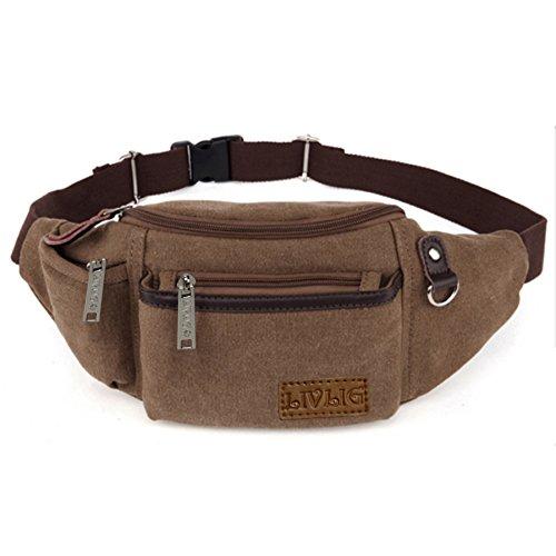 LIVLIG Lightweight Water Resistance Waist Bag (Khaki)