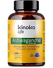 ASHWAGANDHA KSM-66 180 kapsułek 500mg z czarnym pieprzem dla maksymalnej absorpcji | 5% Withanolides | 100% Natural Vegan | Withania Somnifera | Bez stearynianu magnezu | Bezglutenowy | Nie-GMO