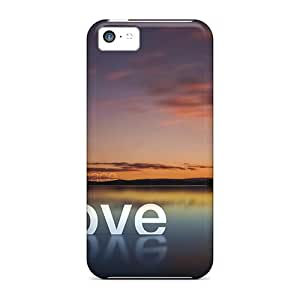 For TLDickey Iphone Protective Case, High Quality For Iphone 5c Love Peace Hope Skin Case Cover