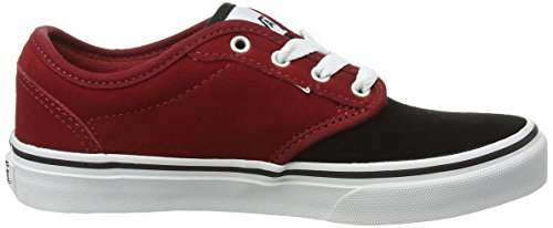 Vans Unisex-Kinder Atwood Low-Top Rot (Varsity Red /black)