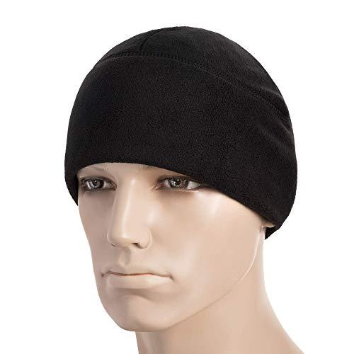 M-Tac Winter Hat Windproof Fleece 380 Mens Watch Cap Military Skull Cap Beanie (Black, Large)