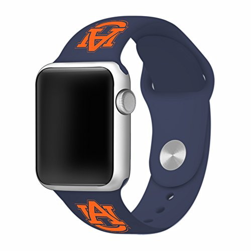 Tigers Sport Steel Watch (Auburn Tigers Silicone Sport Band fits Apple Watch - BAND ONLY (38mm))