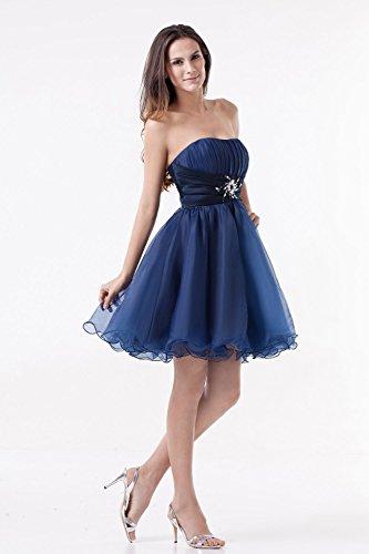 Bridal_Mall - Vestido - Sin mangas - para mujer Koenigsblau 36