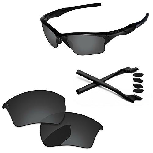 Lens Grey Original (PapaViva Replacement Lenses & Rubber Kits for Oakley Half Jacket 2.0 XL Pro+ Black Grey Polarized)
