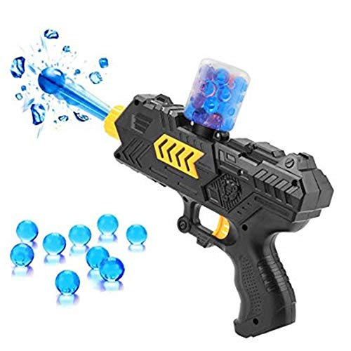 - F&W Kids Plastic Water Crystal Gun 2-in-1 Paintball Soft Bullet Handgun Toys,Kids Crystal Bullets CS Shooting Game Set (Black)