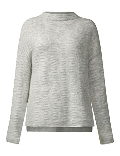 Pullover Felpa cyber One Turtle Structured Melange Grau 10767 Grey Street Neck Donna IxSATwqw
