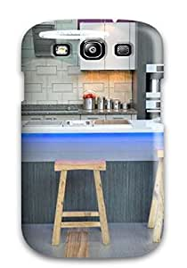 Awesome Case Cover/galaxy S3 Defender Case Cover(modern Kitchen With Purple Wall Led Island Lighting And Quartz Waterfall Counter) wangjiang maoyi