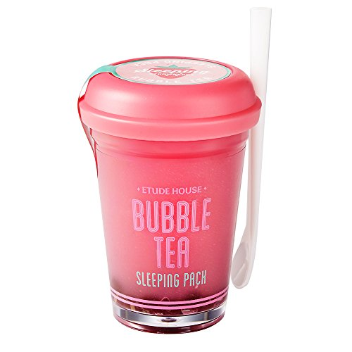 Etude House Bubble Tea Sleeping Pack, Strawberry, 100 Gram (Face Pack Strawberry)