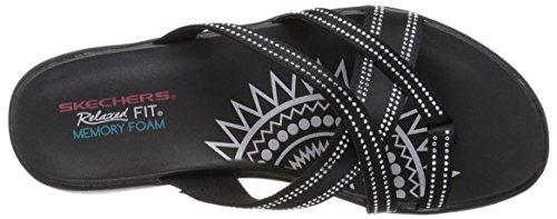 Dazzle Time Flop Rhinestud Women's Flip Upgrades Skechers Multi Black Strap EtfwqEOn