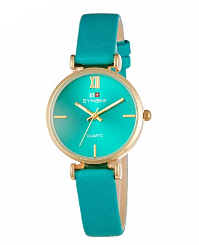 Price comparison product image Auspicious beginning Women's Fashion Leather Belt Quartz Watch