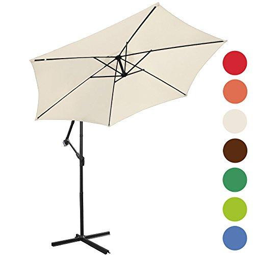 Ampelschirm--300cm-Sonnenschirm-Sonnenschutz-Farbwahl