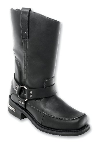 Milwaukee Motorcycle Clothing Company Mens Deluxe Harness Boots (Black, Size 13)