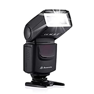 Powerextra Professional DF-400 Speedlite Camera Flash for Canon Nikon Pentax Samsung Fujifilm Olympus Panasonic Sigma Minolta Leica Ricoh DSLR Cameras and Digital Cameras with Single-Contact Hotshoe