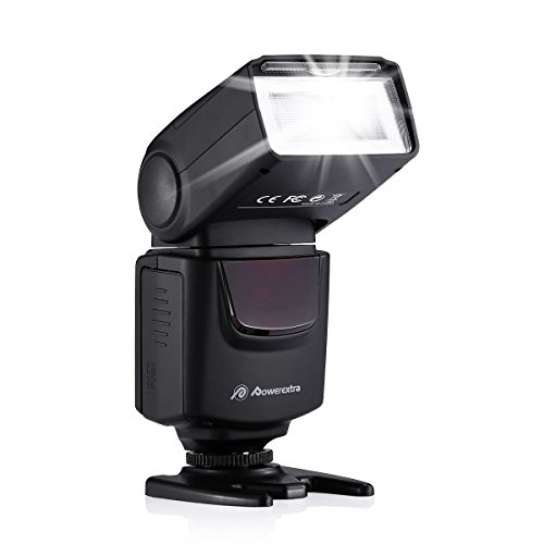 (Powerextra Professional DF-400 Speedlite Camera Flash for Canon Nikon Pentax Samsung Fujifilm Olympus Panasonic Sigma Minolta Leica Ricoh DSLR Cameras and Digital Cameras with Single-Contact Hotshoe)