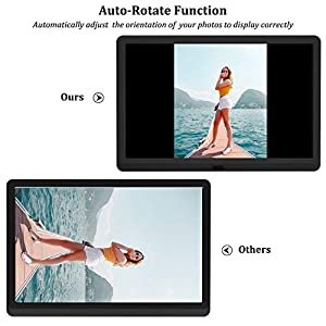 Digital Photo Frame 10 Inch (16:9) IPS 1920 * 1080 resolution display, Free 32GB SD Card, Preview Function, Auto-Rotate, Delete Picture Remote Control, Photo/Music/Video Support, Black