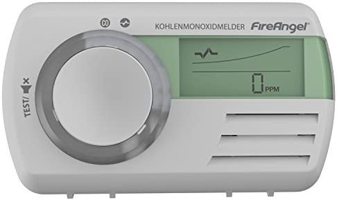 Kohlenmonoxidmelder DET Deutsches Modell Fire Angel CO 9 D