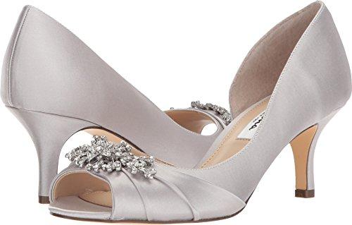 NINA Women's Cyrene Silver Crystal Satin 7.5 M ()