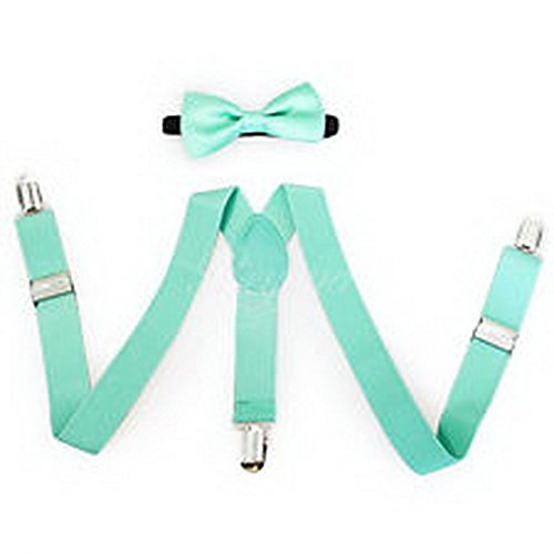 Scott Allah design - Accessories Teal Suspender and Bow Tie Set for Baby Toddler Kids Boys Girls (Batman Toddler Suspenders)