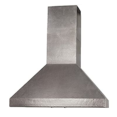 "21"" 600 CFM Wall Mount Range Hood Height: 42"", Finish: Brushed Nickel"