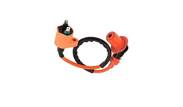 Buj/ía de encendido naranja modificada Buj/ía de encendido de 6 pines A7TC para GY6 50CC 125CC 150CC