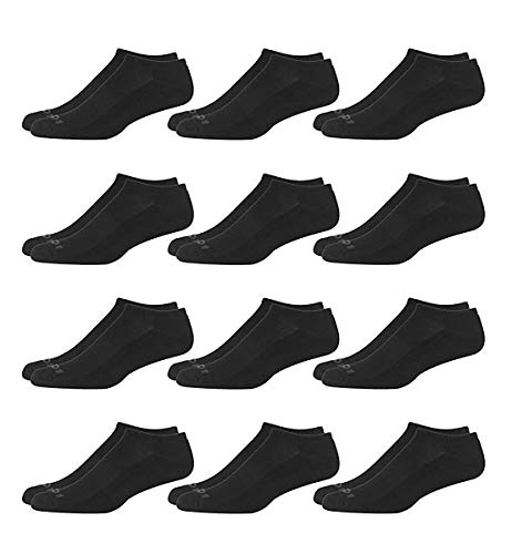 'AND1 Men\'s 12 Pack Athletic No Show Socks (Black, Shoe Size: 6-12.5)'