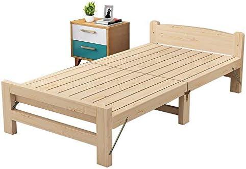 折りたたみベッド、 屋内オフィスバルコニーパティオガーデンビーチ木製折りたたみベッドシングルベッドランチ 簡単なスタッキングと保管 (色 : ベージュ, サイズ : 196X55X80CM)