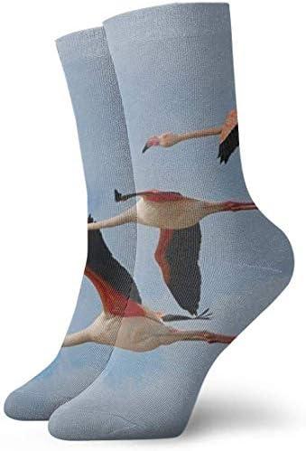 Flying Flamingos Fondo De Pantalla HD 足首ソックス30cmコットンアスレチッククルーソックス(男性、女性、子供用)