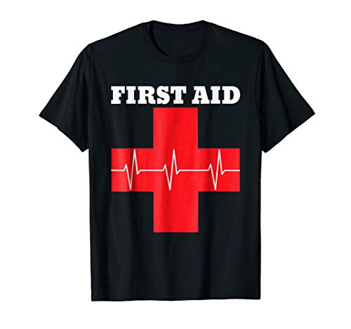 First Aid Red Cross T-Shirt | Lifeguard Staff T Shirt -