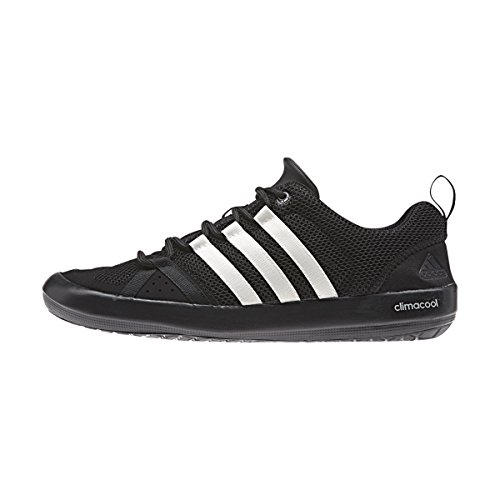 adidas+Outdoor+Unisex+Climacool+Boat+Lace+Water+Shoe%2C+Black%2FChalk+White%2FSilver+Metallic%2C+11+M+US