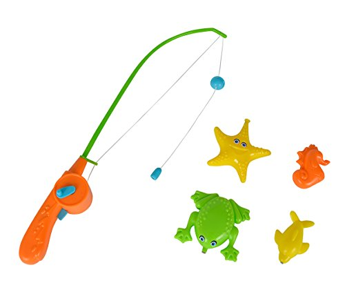 (Simba 107403295 Automatic Magnetic Fishing Game Set of 3 Assorted, Multi-Colour)