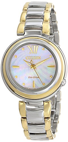 Citizen Eco-Drive Women's EM0337-56D Citizen L Sunrise Analog Display Two Tone Watch (Watch 56d)