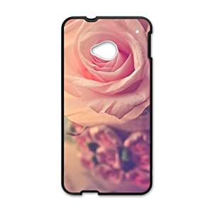 glam pink flowers personalized high quality cell phone case for HTC M7 by lolosakes