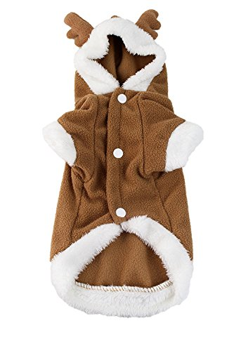 Small Dog Small Fuzzy Reindeer Dog Costume by Midlee (Cupid Dog Costume)