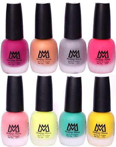 Makeup Mania Nail Polish Set, Velvet Matte Nail Paint Combo Set of 8 Pcs, Multicolor Nail Polish Combo (MM # 60-68)