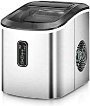 Euhomy Ice Maker Machine Countertop, Makes 26 lbs Ice in 24 hrs-Ice Cubes Ready in 8 Mins, Compact&Lightwe