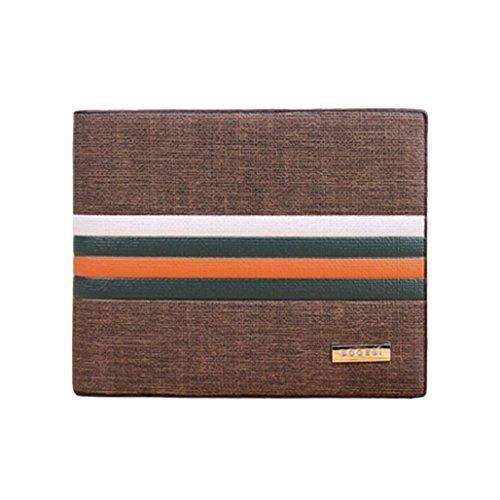 Wallet,toraway Business Striped Billfold Leather Wallet Men Purse Bifold (Fold Wallet Striped Bi)