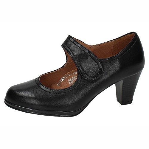 Made In Zapatos Piel Negro De Spain Mujer Tacón 5043 Tacones rrxdP0